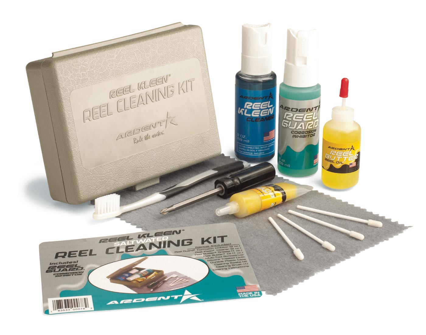 Ardent reel cleaning kit saltwater rutenzubeh r erste for Fish cleaning kit