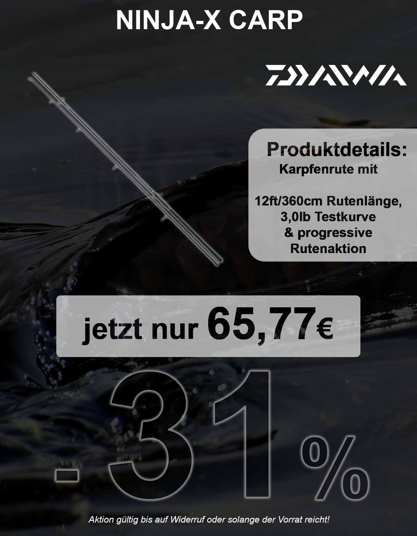 Daiwa Ninja X Carp 12ft 3,0lb 50mm | Karpfenruten bis 12ft