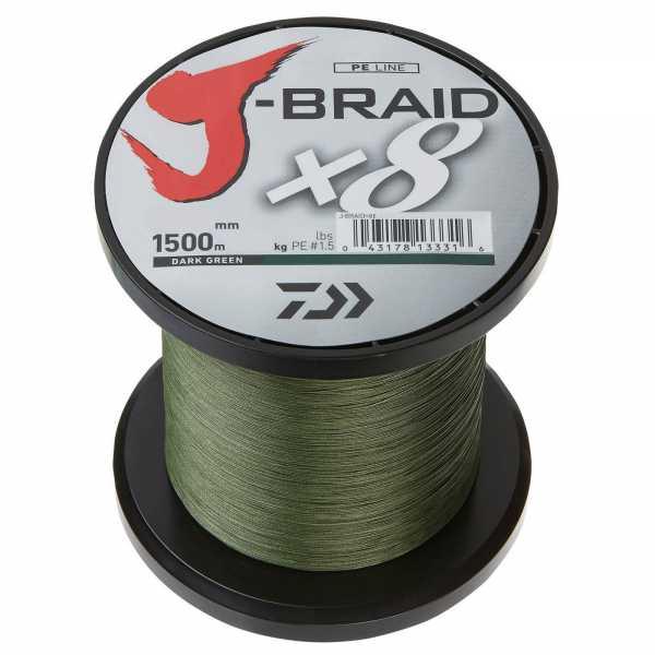 Daiwa J-Braid X8 Dark Green 1500m