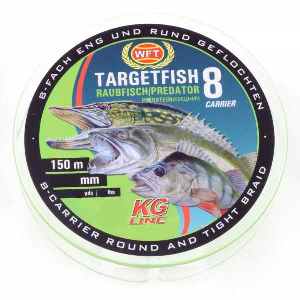 WFT Target Fish TF8 Raubfisch Chartreuse 150m