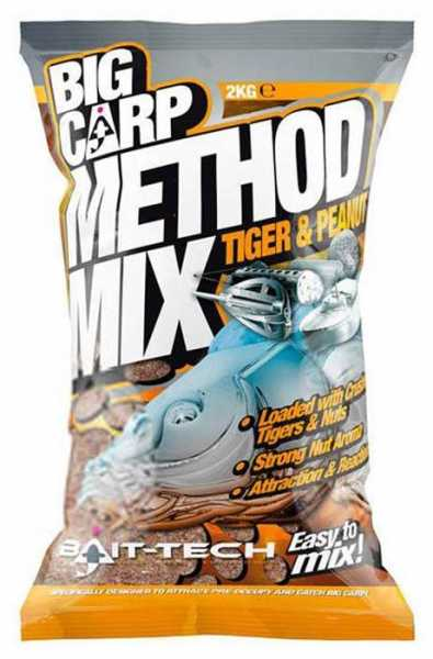 Bait Tech Big Carp Method Mix Tiger & Peanut 2kg