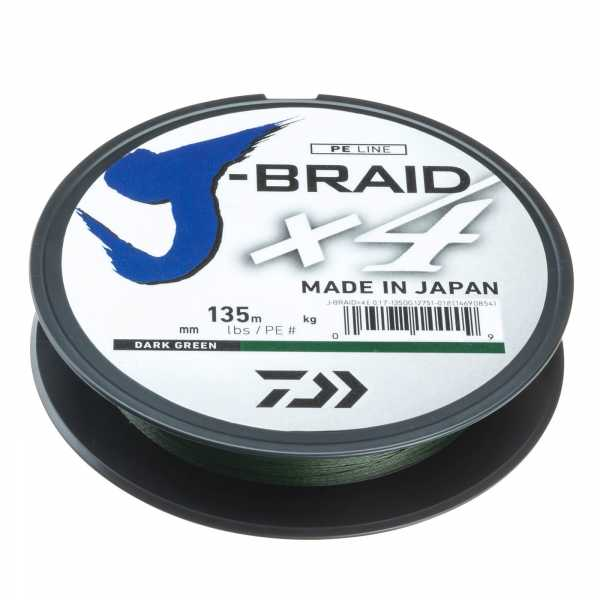 Daiwa J-Braid X4 Dunkelgruen 135m