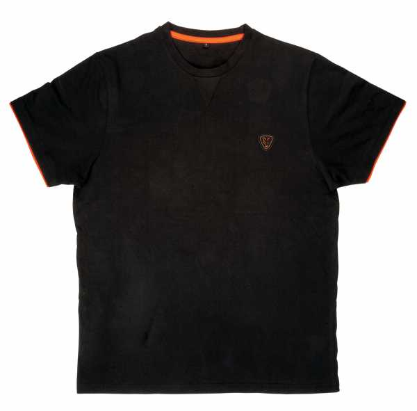 FOX Black / Orange Brushed Cotton T-Shirt