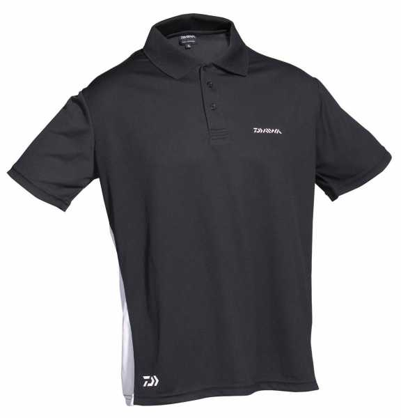 Daiwa D-Vec Polo-Shirt schwarz weiss