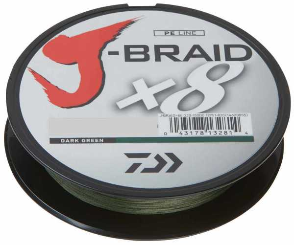Daiwa J-Braid X8 150m Green