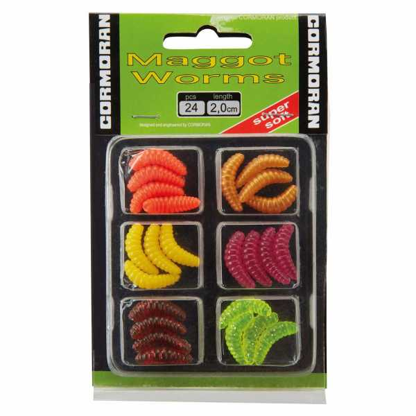 Cormoran Maggot Worms Set 2 20mm