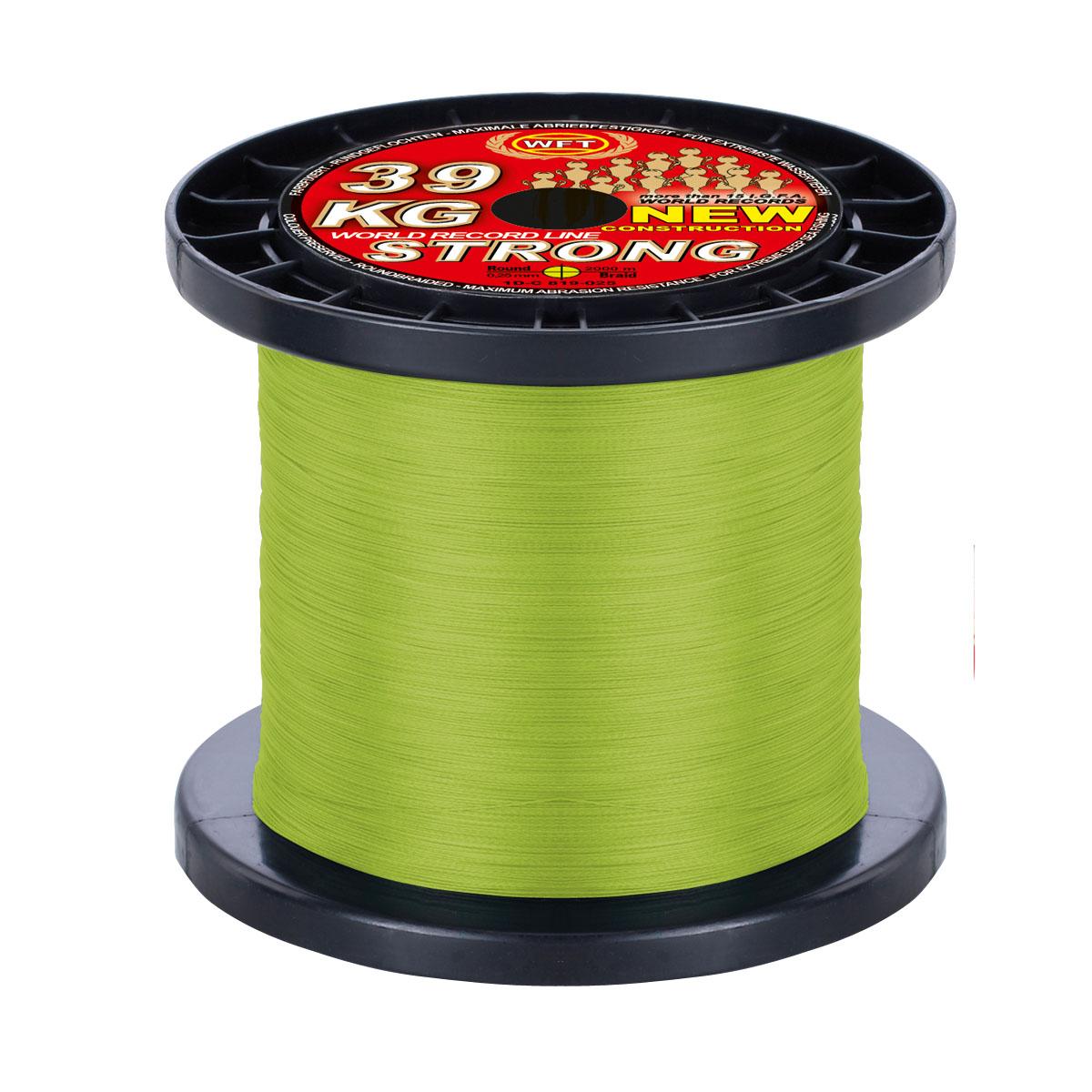 Farbe:Gelb WFT KG STRONG Schnur geflochtene 600m 0,18mm 22kg