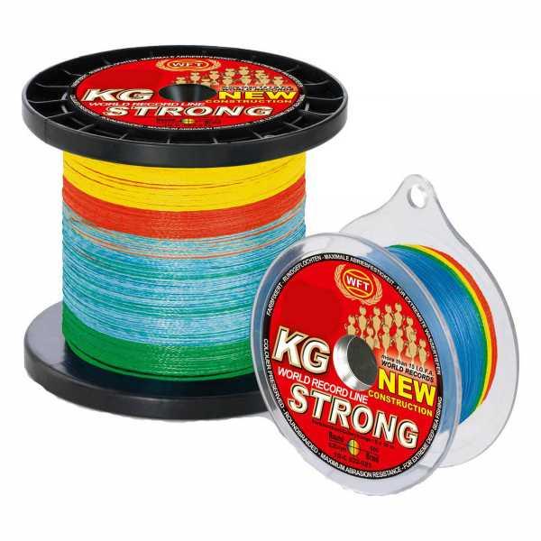 WFT KG Strong Multicolor geflochtene Angelschnur