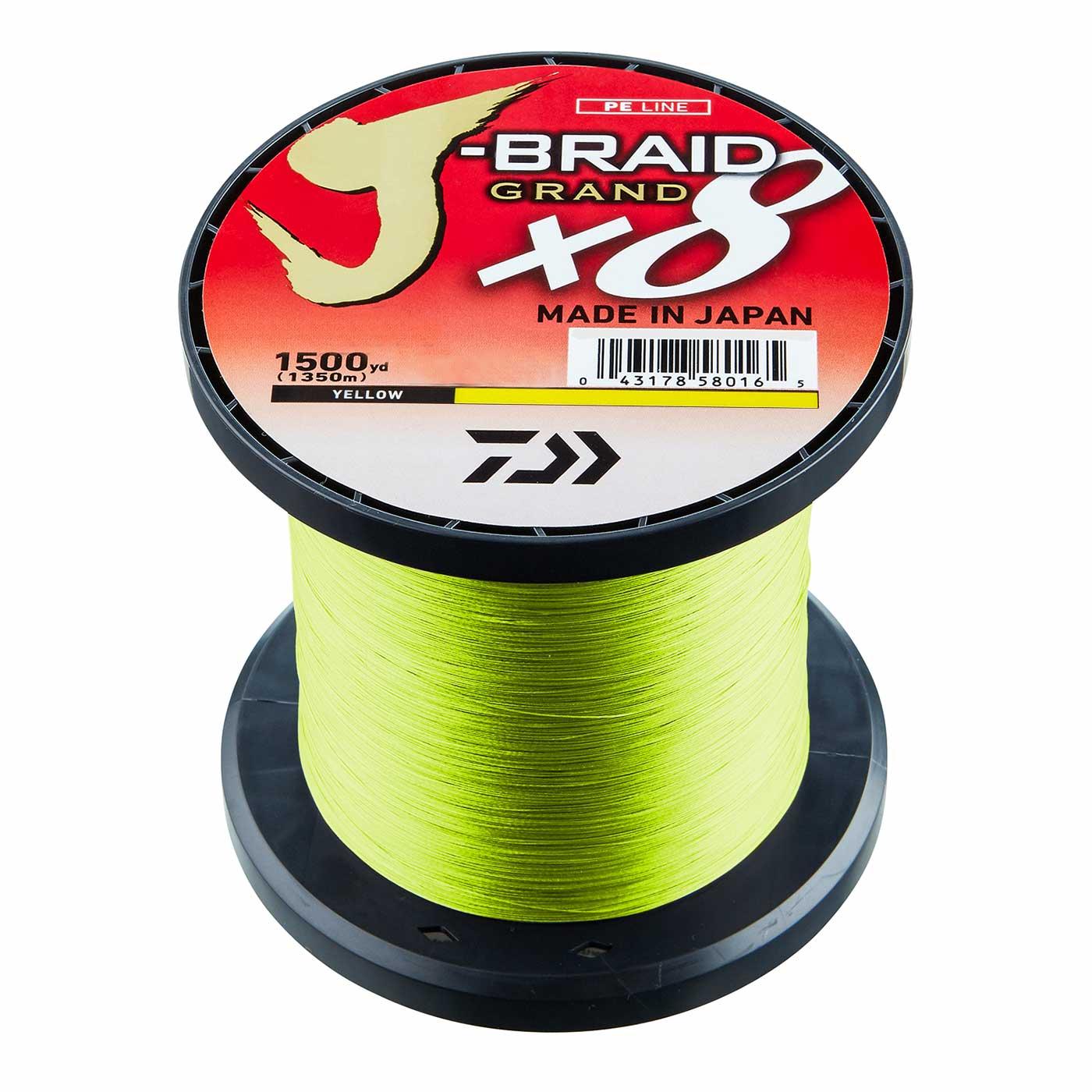 Daiwa J-Braid X8 0,20mm 13Kg 1500m Green Geflochtene Schnur
