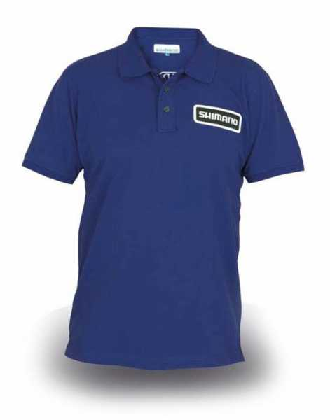Shimano Polo-Shirt Royal-blau