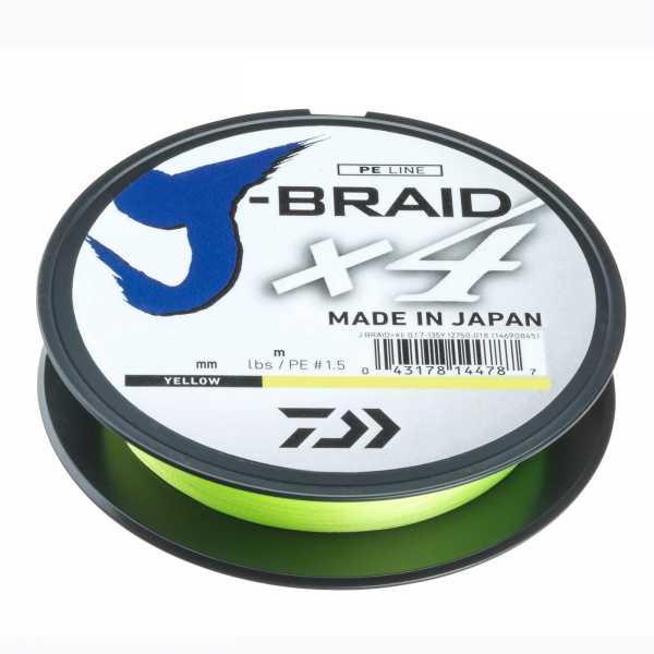 Daiwa J-Braid X4 Yellow geflochtene Angelschnur