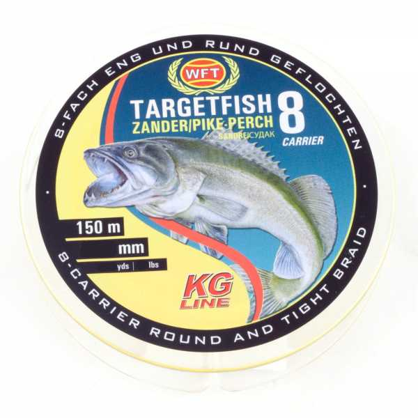 WFT Target Fish 8 TF8 Braided Line Zander