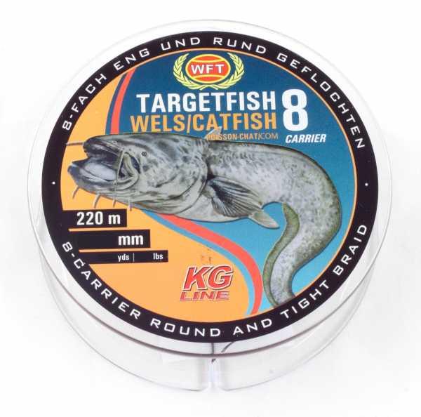 WFT Target Fish 8 TF8 Braided Line Catfish