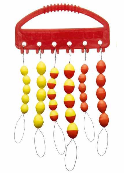 Cormoran Posen SIlikonstopper gelb/rot