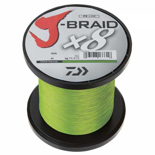 Daiwa J-Braid X8 Chartreuse 3000m