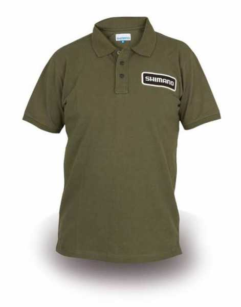 Shimano Exclusive Edition Polo-Shirt Olive
