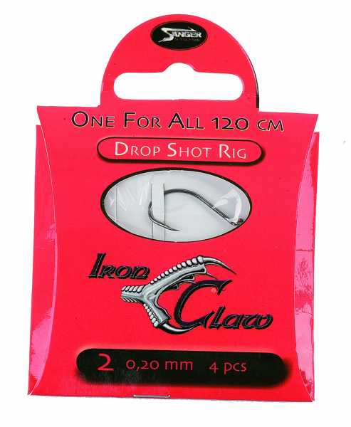 Iron Claw - One for All - Drop Shot Rig - 120cm 4 Stück
