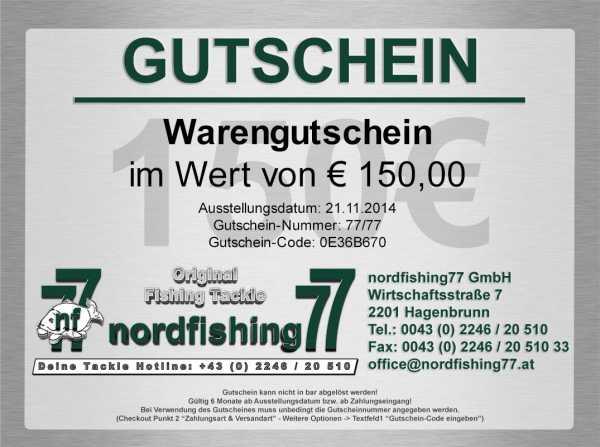 150 Euro Angelgutschein